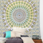 Psychedelic Dorm Bedroom Mandala Wall Tapestry Cotton Bedding Bedspread