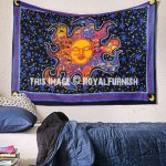 Multi Celestial Sleeping & Dreaming Sun Wall Tapestry