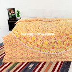 Yellow Leafs Medallion Ombre Duvet Cover