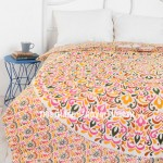 Multi Floral Leaf Medallion Ombre Duvet Cover