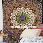 Twin Size Multi 3 D Star Mandala Wall Tapestry, Hippie Bedding