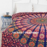 Multi Colorful Decorative Trippy Peacock Boho Mandala Bedding Duvet Cover