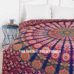Multi Colorful Decorative Trippy Peacock Boho Mandala Bedding Duvet Cover