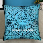 Turquoise Blue Greenman Featuring Decorative Tie Dye Throw Pillow Cover 16X16