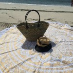 Golden Classic Bohemian Ombre Roundie Mandala Beach Throw