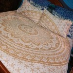 Golden Classic Ombre Boho Mandala Bedding Duvet Cover Set of 2 Pillow Covers