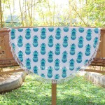 Sea Green Pineapple Printed Roundie Beach Throw Towel