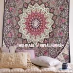 Purple Medallion 3-D Star Wall Tapestry, Hippie Mandala Bedding