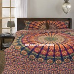 Multi Plum and Bow Devi Mandala Duvet Covers with Set of 2 Pillow Case