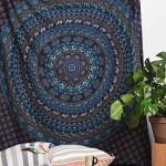 Blue Bohemian Indian Hippie Mandala Wall Tapestry