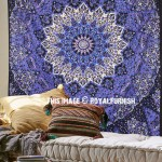 Colorful 3 D Star Mandala Tapestry, Psychedelic Hippie Wall Hanging Bedding