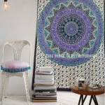 Small Beige Elephants Bohemian Ring Kerala Mandala Tapestry