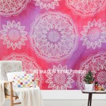Pink Purple Prismatic Medallion Mandala Galaxy Tapestry