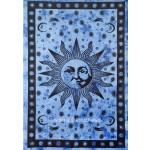 Indian Tie Dye Fringed Purple Sun Wall Tapestry Bedspread