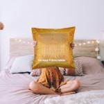 Yellow Gold Tajmahal Decorative Silk Throw Pillow Case 16X16