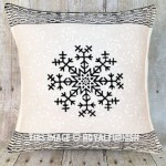 White & Black Star Hand Block Printed Decorative Pillow Sham 16 Inch