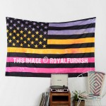 Small Multi Tie Dye American Flag Tapestry