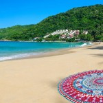 Colorful Multi Tara Mandala Beach Roundie Throw