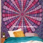 Pink Purple Multi Hippie Medallion Mandala Tapestry Boho Decor