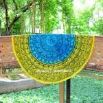 Colorful Tie Dye Elephant String Medallion Round Beach Throw Blanket
