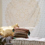 Sparkly Gold Orion Jewel Mandala Wall Tapestry
