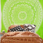 Parrot Green Bohemian Dreams Mandala Throw Bedspread Wall Tapestry