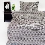 Gray & Black Goddess Twin Bohemian Mandala Bedding Duvet Cover Set with 1 Pillow Sham