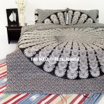 Black & White Queen Boho Bedding Mandala Duvet Cover Set with 2 Pillow Shams