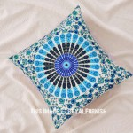White Decorative Bohemian Mandala Throw Pillow Cover