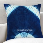 Blue & White Indie Shibori Throw Pillow Cover 16X16 Inch