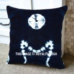 Decorative Blue Indigo Throw Pillow Cover 16x16 Inch