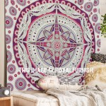 Pink Purple Voyager Wall Tapestry Mandala Beach Throw