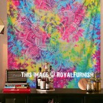 Colorful Gold Ombre Wall Tapestry