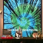 Turquoise & Green Multi Tie Dye Locust Trees Tie Dye Tapestry