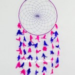 Pink Color Dream Catcher Wall Hanging 16 Inch