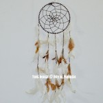 Brown & White Small Size Dream Catcher
