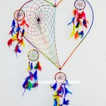 Large Size Colorful Love Heart Dream Catcher Wall Hanging
