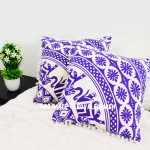 Purple Elephant Circle Mandala Throw Pillow Cover Set of 2