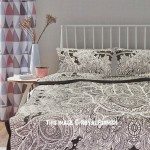 Grey Sketched Hand Hamsa Duvet Cover Set with 2 Pillow Covers
