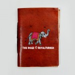 Brown Elephant Design Leather Journal Diary Notebook