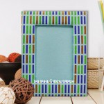 Multi Colored Recycled Paper Tabletop Picture Frame 5X7 Inch