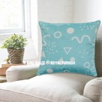 Teal Memphis Pattern Decorative Throw Pillow Case, Cushion Cover
