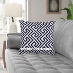 Blue & White Moroccan Geometric Decorative Throw Pillow Cover, Cushion Cover