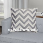 Grey Chevron Throw Pillow Cover