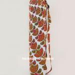 Orange Motif Cotton Yoga Mat Bag Cover