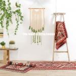 Green Dye Boho Chic Macrame Wall Hanging Tapestry