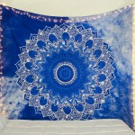 Blue & White Indian Mandala Wall Tapestry