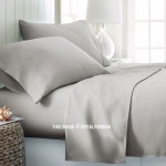 Light Grey 4Pc Cotton Bed Sheet Set 1 Flat Sheet, 1 Fitted Sheet and 2 Pillowcases