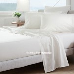 White 4Pc Cotton Bed Sheet Set 1 Flat Sheet, 1 Fitted Sheet and 2 Pillowcases 300TC
