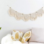 Cute Small Cotton Macrame Wall Hanging Tapestry